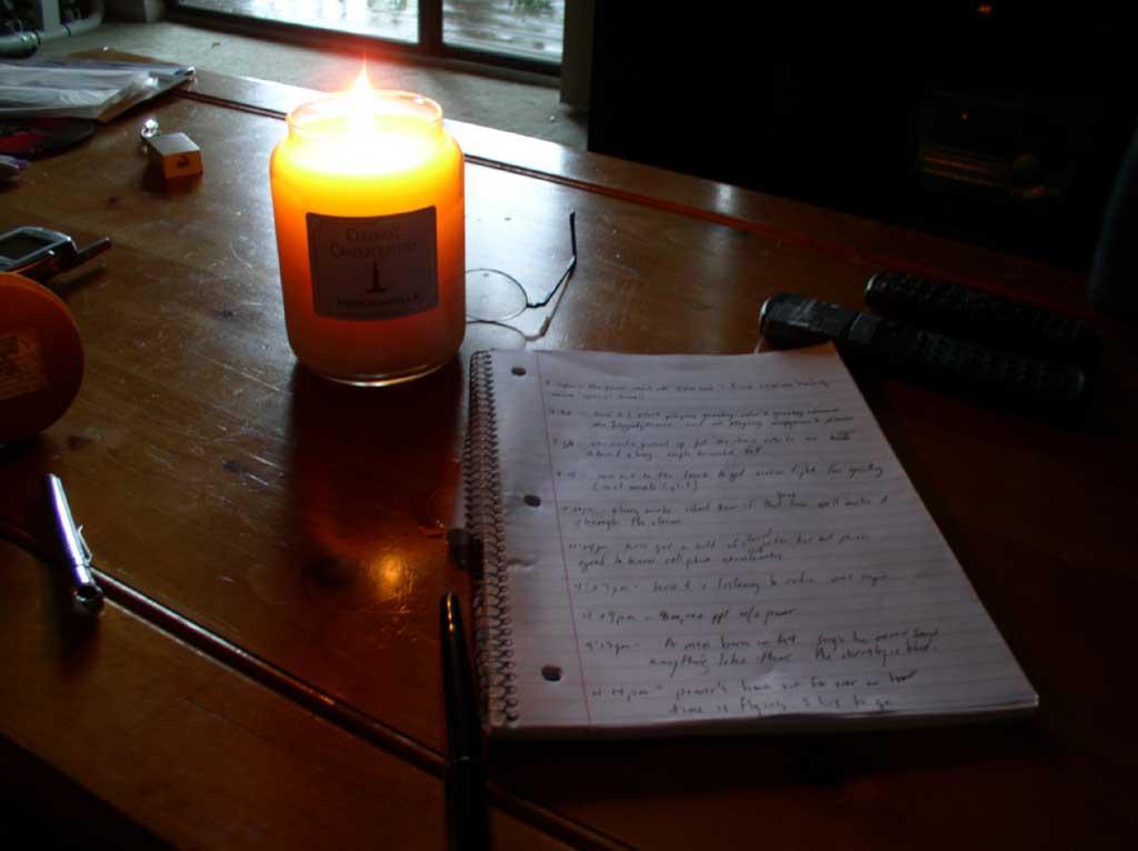 2003 09 18 pen paper candle